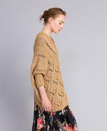 Mélange effect maxi jumper Camel Woman PA8371-02