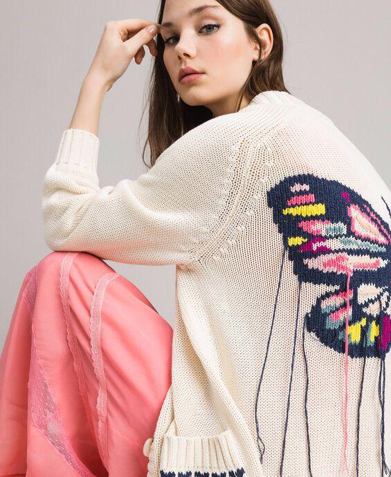 Maxi-Cardigan aus Baumwolle mit Herzen