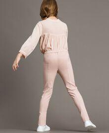 Pantalon skinny en coton Rose En fleur Enfant 191GJ2111-03