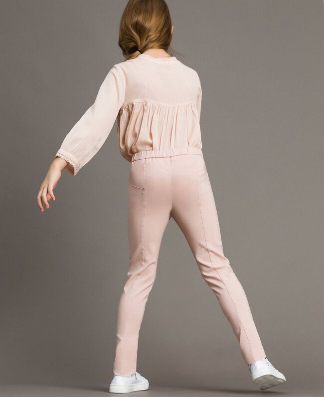 Cotton skinny trousers Blossom Pink Child 191GJ2111-03