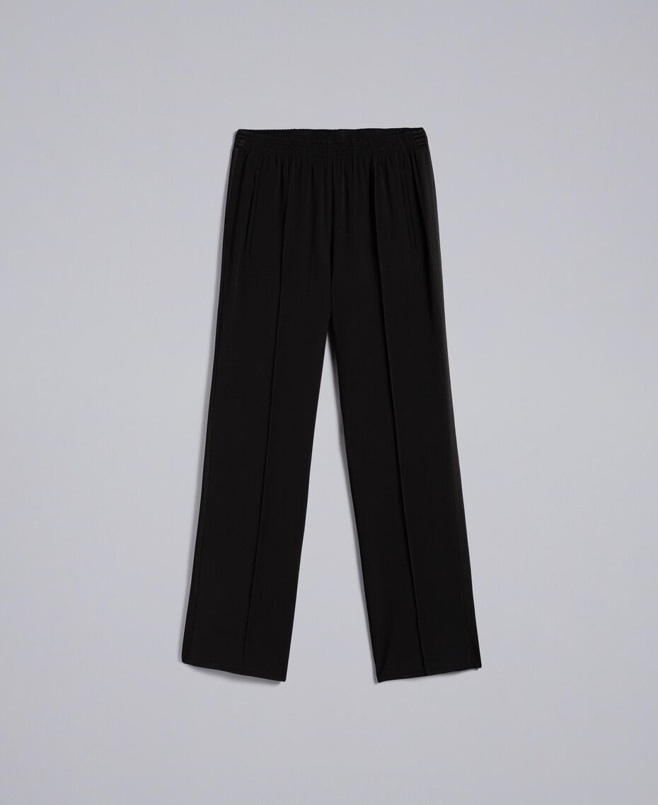 Envers satin palazzo trousers Black Woman TA824A-0S