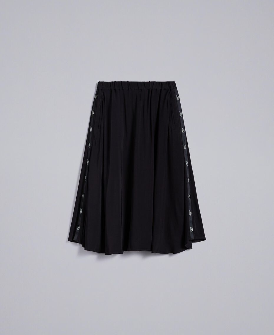 Georgette skirt Black Woman PA82HJ-0S