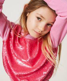 """Full sequin jumper """"Rose Bloom"""" Pink Child 211GJ3530-04"""