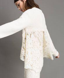 Pullover mit Spitzendetails Weiß Schnee Frau 191TP3202-05