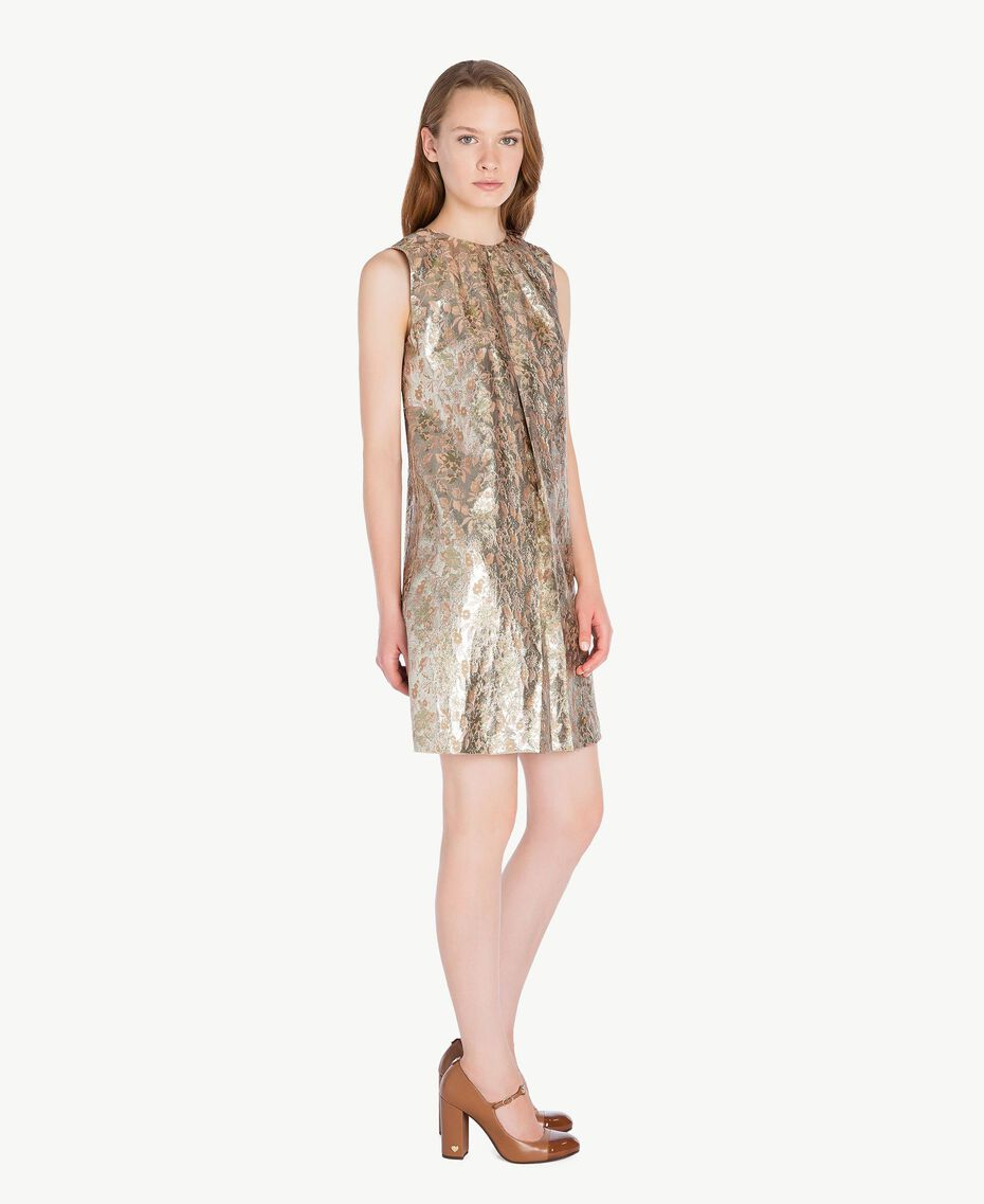 """Kleid aus Jacquard mit Lurex """"Lurex-Jacquard""""-Gold TA723C-02"""