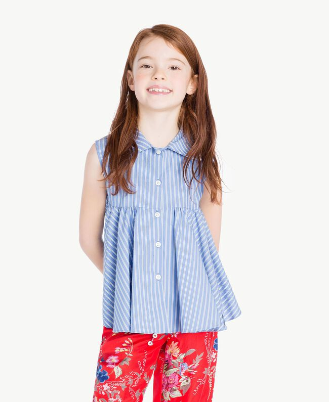Striped top Infinite Light Blue Jacquard Child GS82LR-05