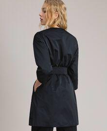 Manteau cache-poussière en taffetas Noir Femme 191TP2655-03