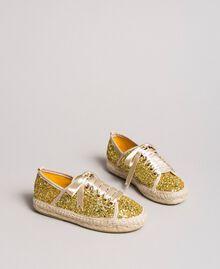 Эспадрильи в блестках Желтый Золото Pебенок 191GCJ042-01
