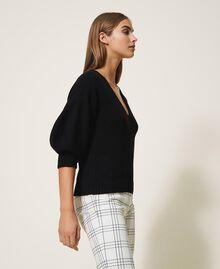 Jersey de lana mixta Negro Mujer 202MP3162-02