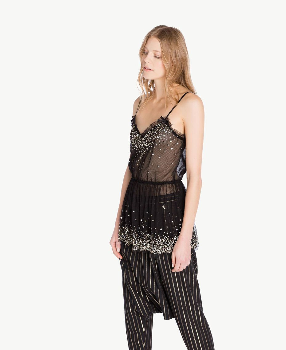 Tulle top Black Woman TS82EH-02