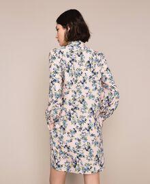 "Floral crêpe de Chine dress ""Quartz"" Pink Flowered Print Woman 201MP2374-04"