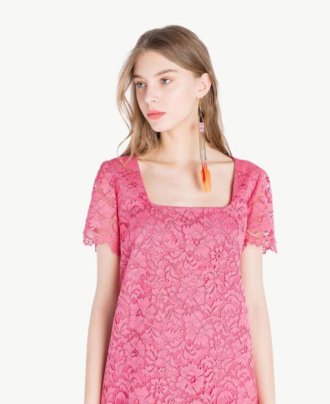 Kleid mit Spitze Provocateur Pink Frau TS828P-04