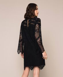 Macramé lace dress Black Cherry Woman 201TP2030-03