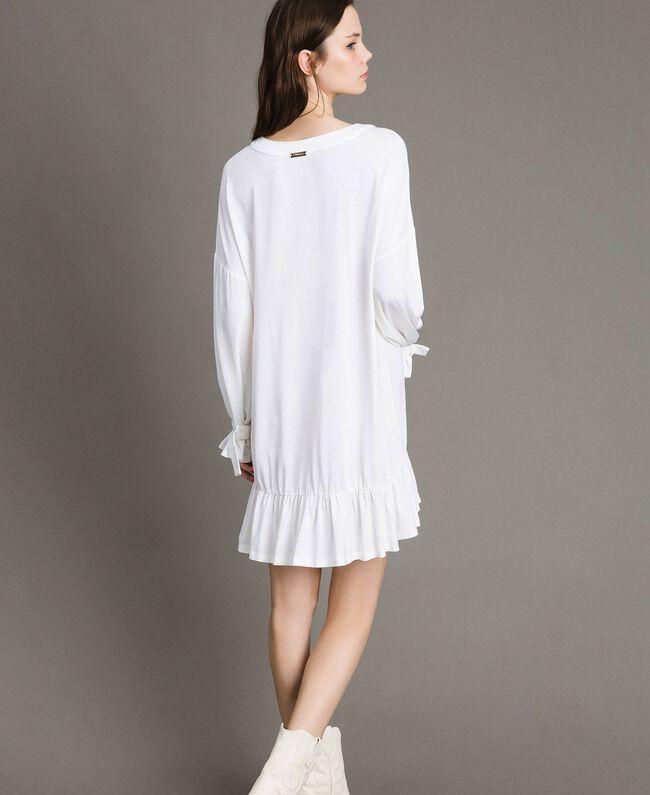 Caftan avec anneaux et rubans Blanc Femme 191LB22BB-03