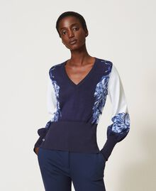 Jersey estampado Estampado «Porcelain Blue And White» Mujer 211TT3131-01
