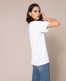 T-shirt avec logo brodé Violet «Ballerine» Femme 201TP2081-03