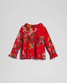 Bluse aus Georgette mit Blumenprint Feldblumenprint Granatapfel Kind 192GB2721-0S
