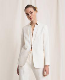 Linen blend blazer White Snow Woman 201TP2252-05
