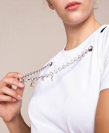 Футболка с ожерельем из шатонов Лилия женщина 201MP2350-04