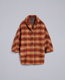 Check cloth coat Brown Textured Check Jacquard Woman TA821J-0S