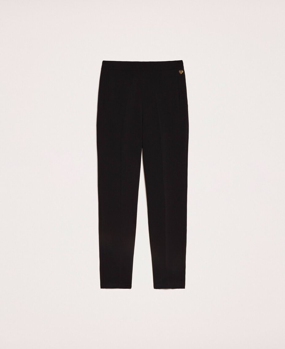 Georgette loose trousers Black Cherry Woman 201TP202B-0S