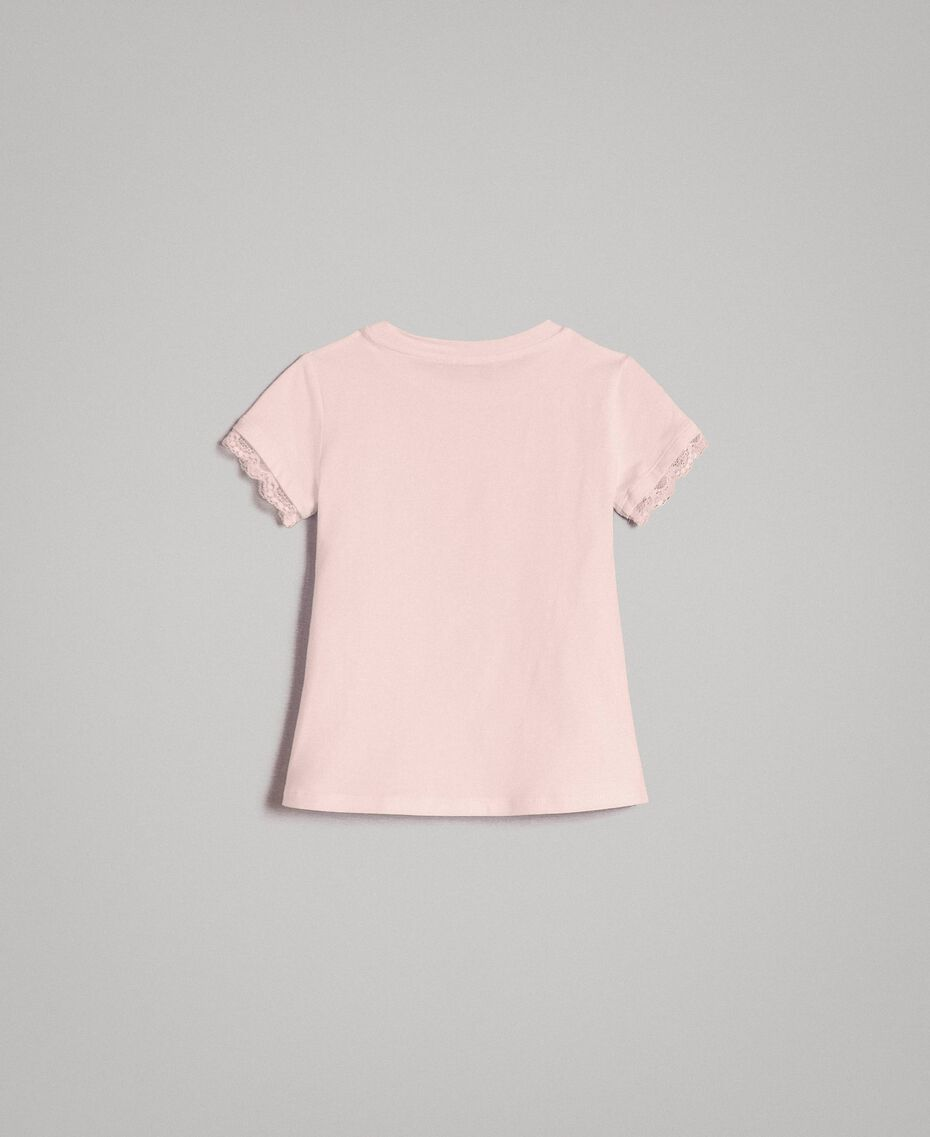 Jersey T-shirt with lace Blossom Pink Child 191GB2180-0S