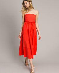 Poplin long bustier dress