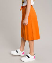 "Jupe-pantalon en popeline stretch ""Orange Estivale"" Enfant 191GJ2410-02"