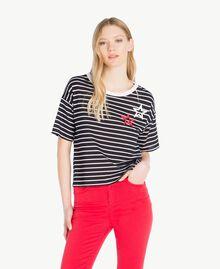 Striped T-shirt Black Stripe / Optical White Woman JS82RH-01