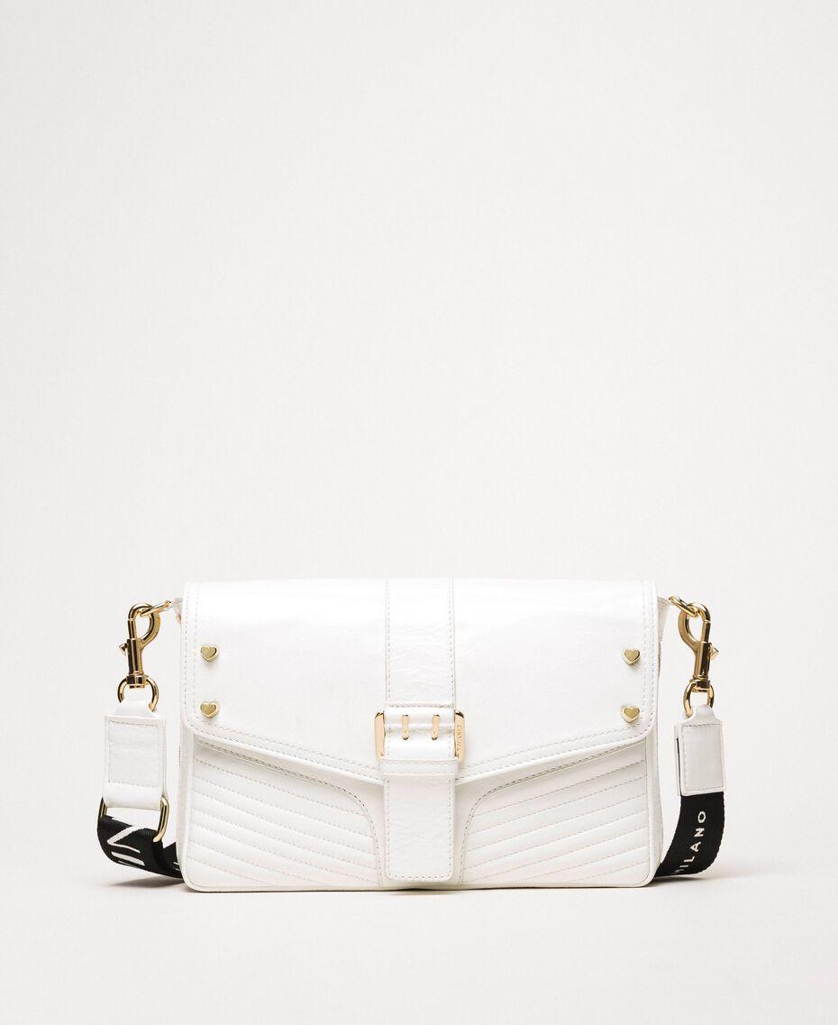 Mittelgroße Rebel Bag mit Logotrageriemen Weiß Schnee Frau 201TO823X-02