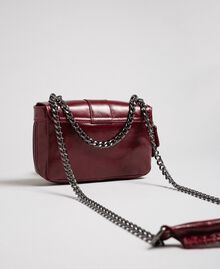 Small Rebel leather shoulder bag Beet Red Woman 192TA7237-03