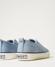Canvas trainers with logo Denim Woman 211TCT170-04