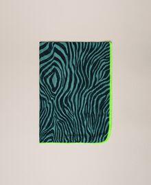 "Animal print sarong ""Atlantic Deep"" Green Zebra Print Woman 201LB4GHH-01"