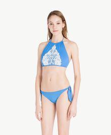 "Solid colour tanga ""Lagoon"" Blue Woman MS8L88-02"