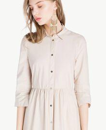 Langes Kleid aus Popeline Dune Frau TS821B-04