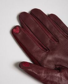 Touch screen gloves with studs Beet Red Woman 192TA4341-02