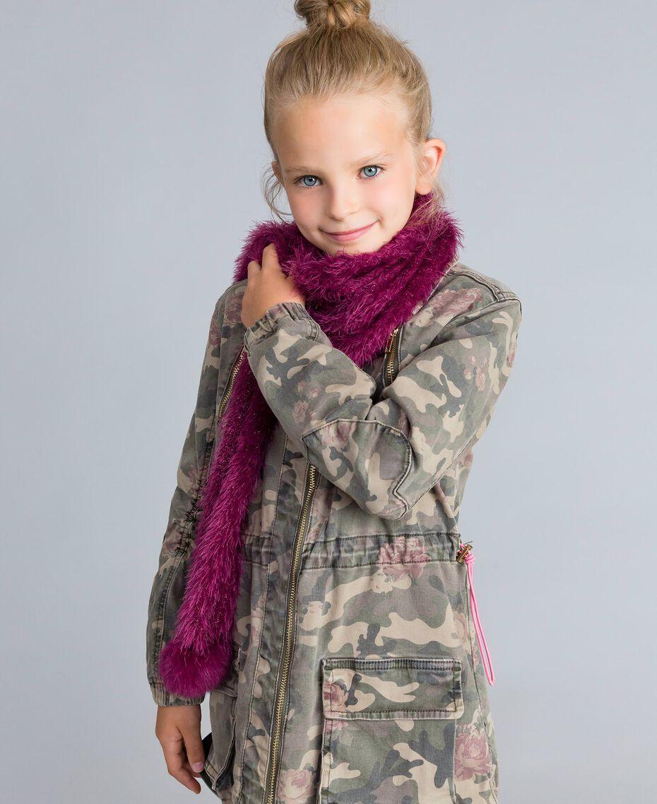 """Fur-effect scarf """"Sweet Grape"""" Purple Child GA8FAN-0S"""