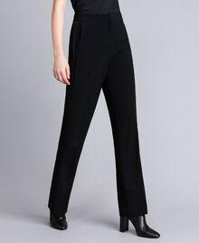Envers satin palazzo trousers Black Woman QA8TGP-03