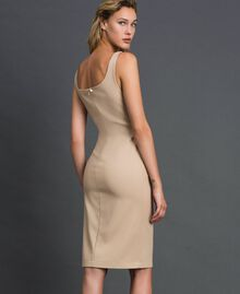 Mid-length sheath dress Cream Woman 999TT2012-04