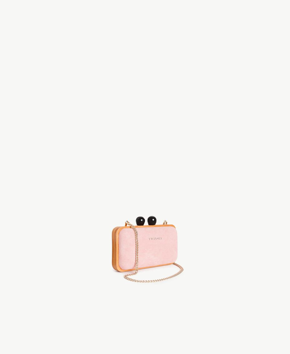 TWINSET Leather clutch bag Baby Pink Woman OS8TE1-02