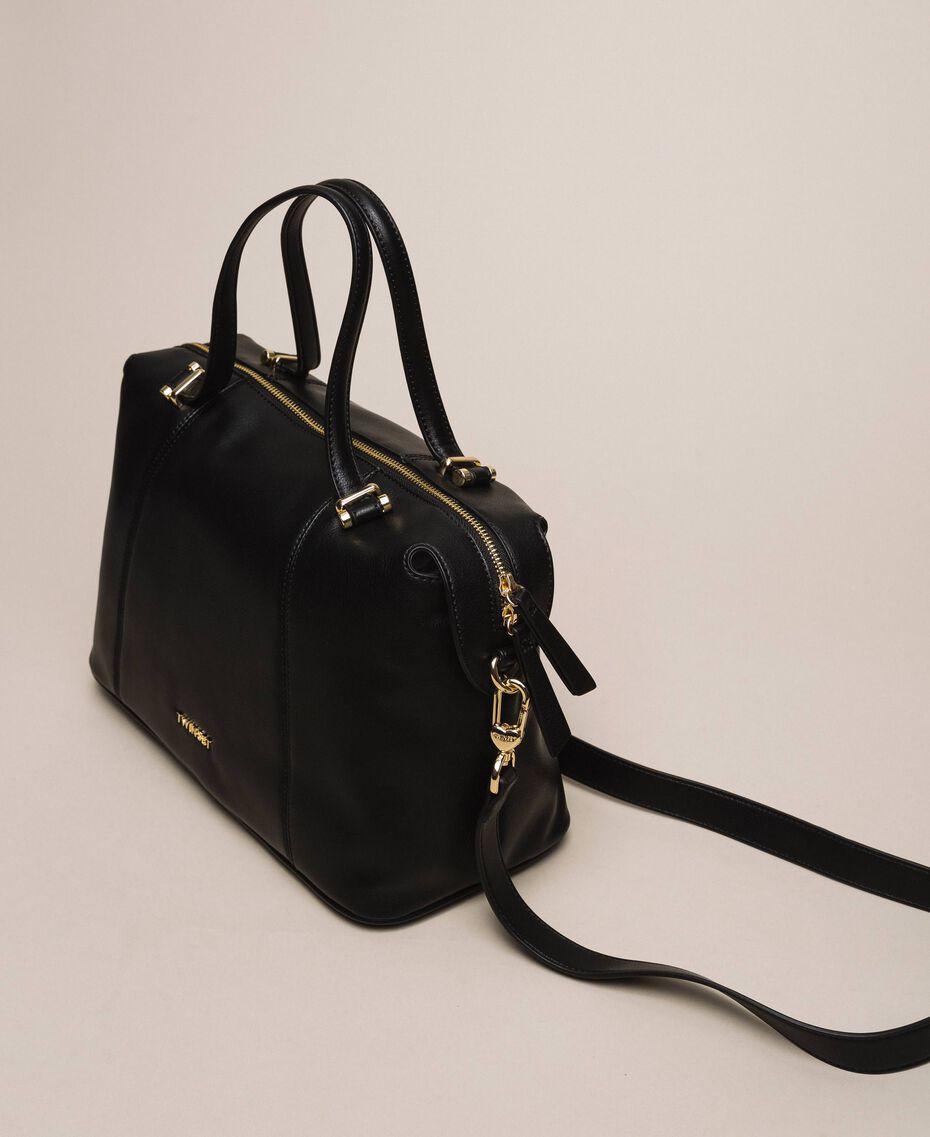 Faux leather bowler bag Black Woman 201TA7162-03