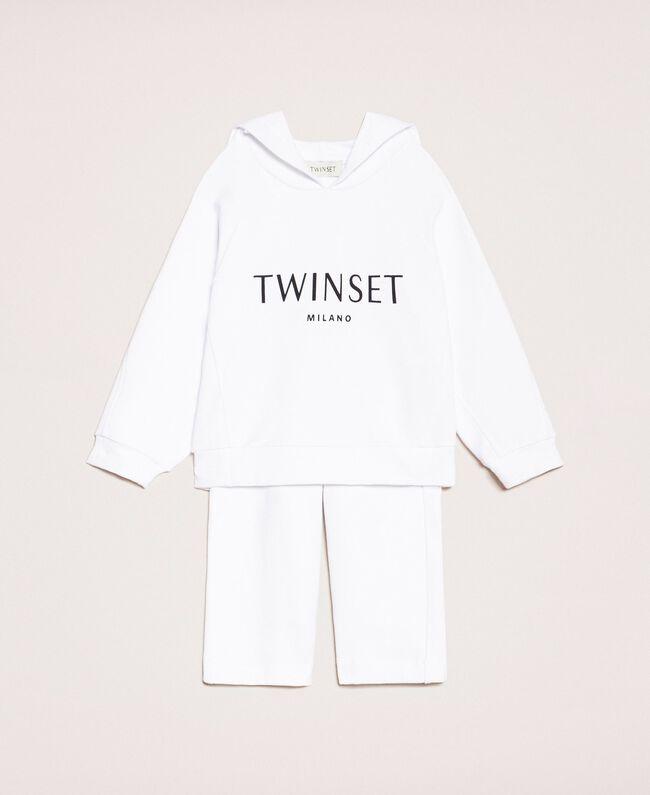 Толстовка с логотипом и укороченные брюки Принт Twinset Флуоресцентный / Розовый Светлый Pебенок 201GB2372-01