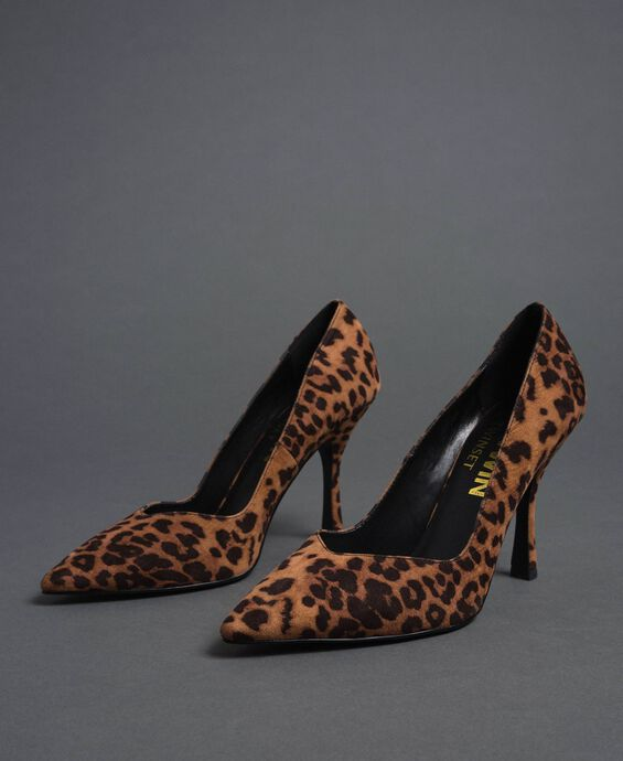 Animal print court shoes