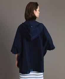 Пончо из тафты с капюшоном Грязно-синий женщина 191ST2010-04