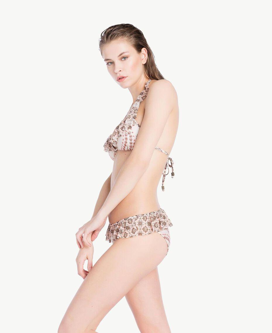 Bikinihose mit Prints Patchprint Vegas Pink Frau BS8A99-03