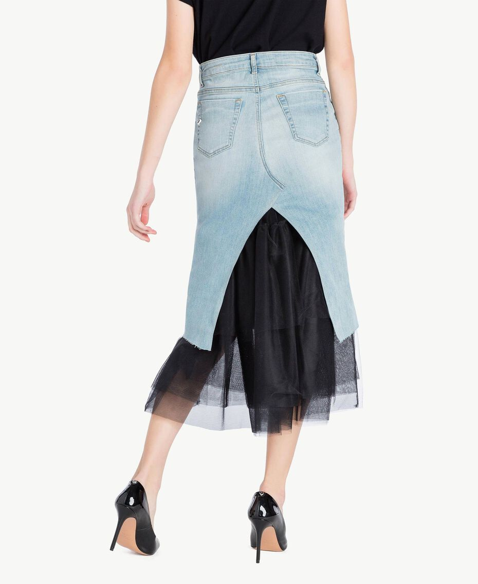 Denim skirt Denim Blue Woman YS82QY-03