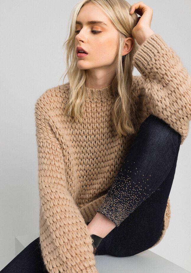 Mohair blend maxi jumper