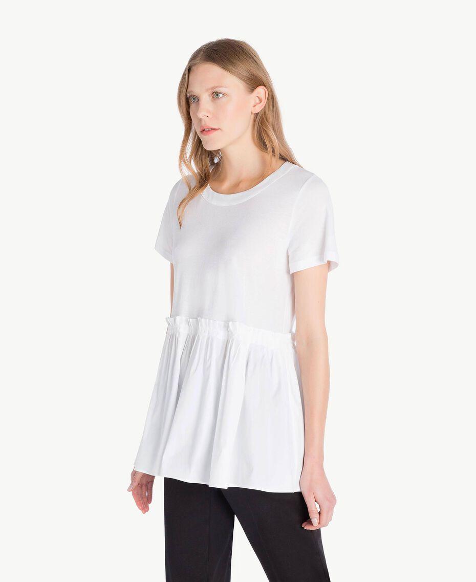 T-Shirt aus Jersey Weiß Frau TS821J-02