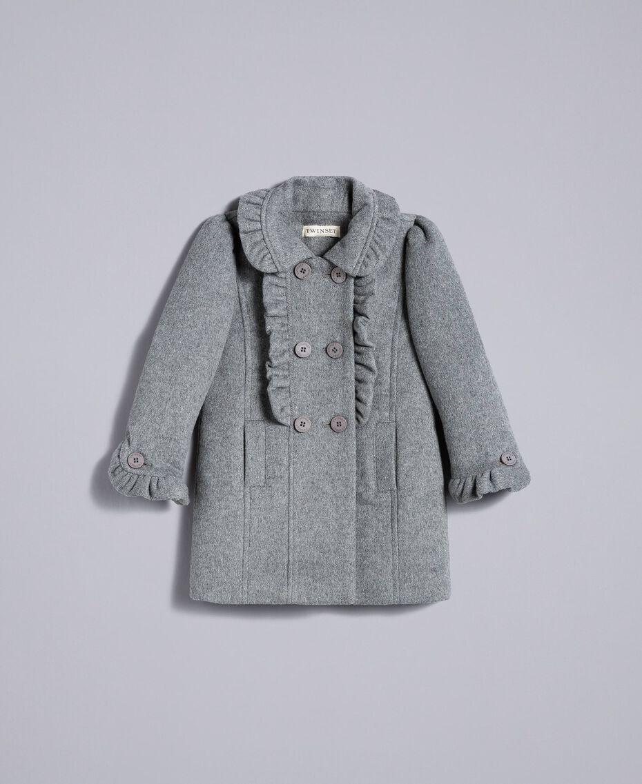 Пальто из сукна с оборками Серый Mélange Средний Pебенок FA82CG-01