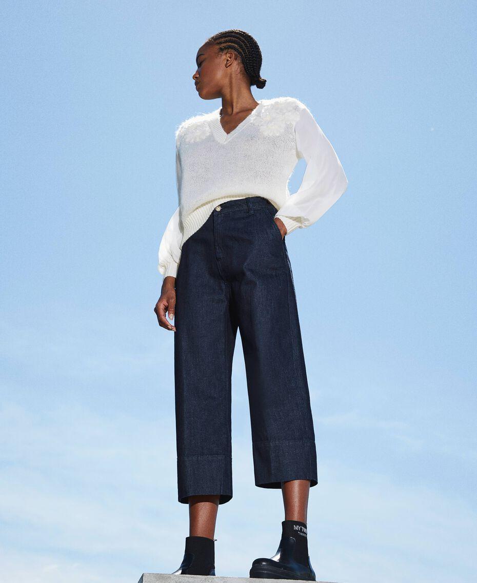 Wide leg jeans Dark Denim Woman 202MP2072-01